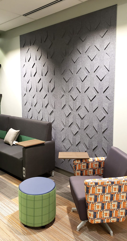 umb bank project felt wall panels
