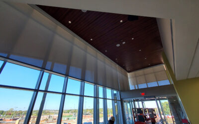 400 Pound Roller Shades Boost Energy Efficiency for Johnson County Community College